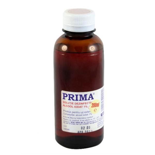 Solutie alcool iodat PRIMA 1% (200ml)