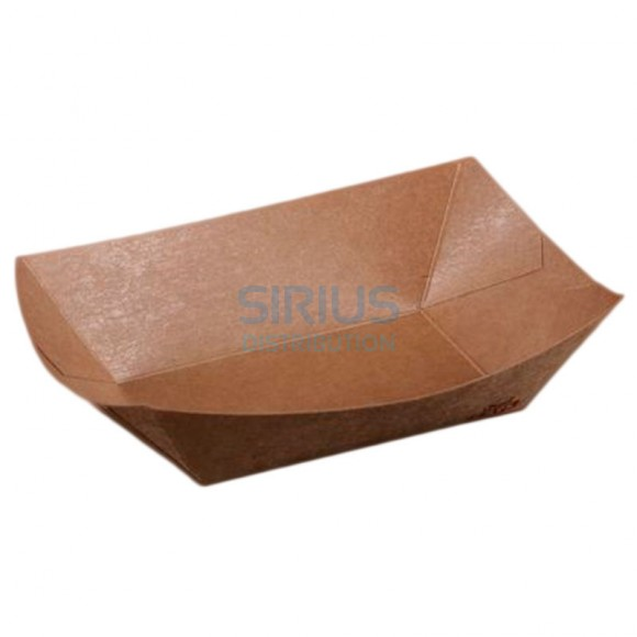 Caserola (mini - platou) din carton kraft cerat, dimensiuni 17x12x4.1 cm (250 buc)