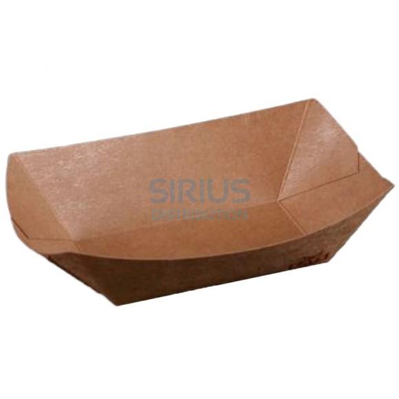 Caserola (mini - platou) din carton kraft cerat, dimensiuni 21.5x15x5.2 cm (250 buc)
