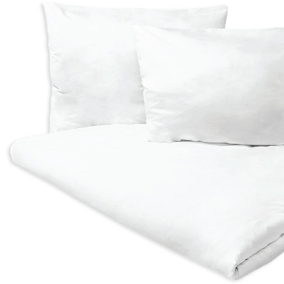 Cearceaf pat, damasc alb, 100% bumbac, 220 x 240 cm, pentru pat dublu (1 buc)