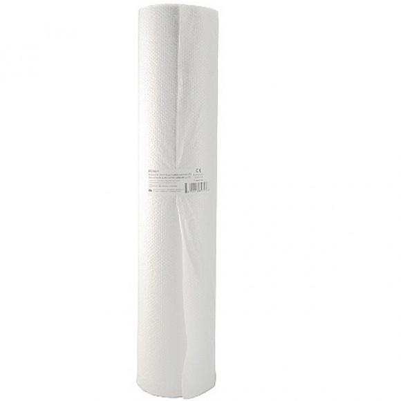 Cearceaf polietilena (PE) + hartie 60cmx50m 130 foi x 38.5cm, recycled, alb, 2straturi laminate (1 rola)
