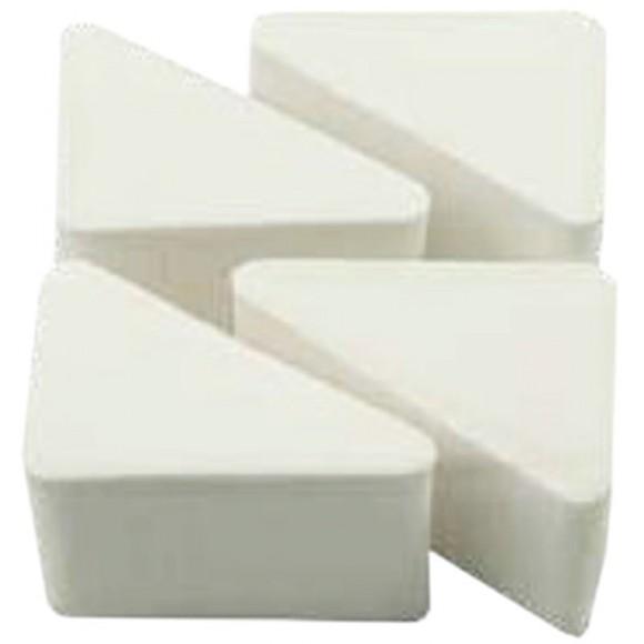 Buretei pentru aplicat fond de ten, triunghiulari, 5.0 x 4.0 x 2.4 cm, alb (4 buc)