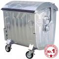 Container metalic, zincat, 1100 litri, 4 roti - model 1132