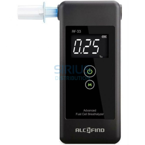 Alcooltest AF-33, senzor electrochimic de precizie, aparat portabil cu afisaj digital