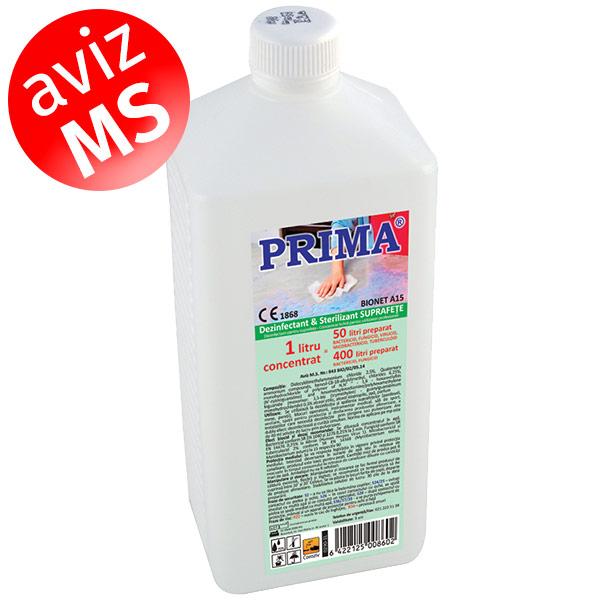 Dezinfectant suprafete, spalare si dezinfectie Bionet A15 - BIOCIDE (1l concentrat)