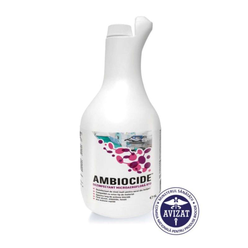 Dezinfectant aer (nebulizare) fara alcool sau aldehide, Biocide (1 litru)