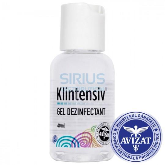 Gel antibacterian si dezinfectant, Klintentiv, avizat biocide, flacon 40 ml (1 bucata)