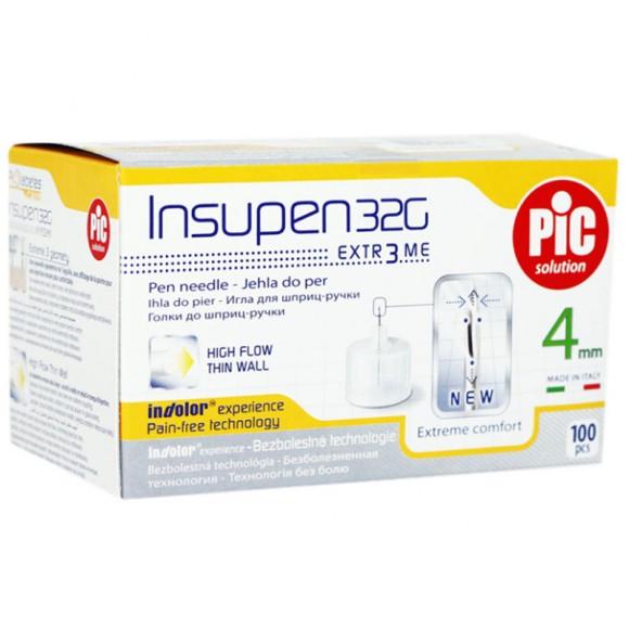 Ace pen insulina sterile INSUPEN 100 buc/cutie 32G x 4 mm