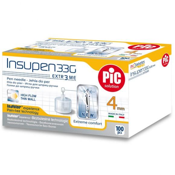 Ace pen insulina sterile INSUPEN 100 buc/cutie 33G x 4 mm