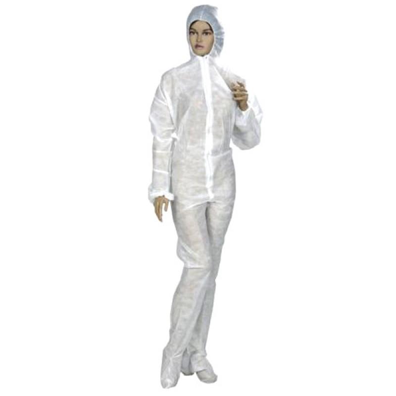 Combinezon protectie unica folosinta din polipropilena 40 gr/mp, marime L / XL (1 bucata)