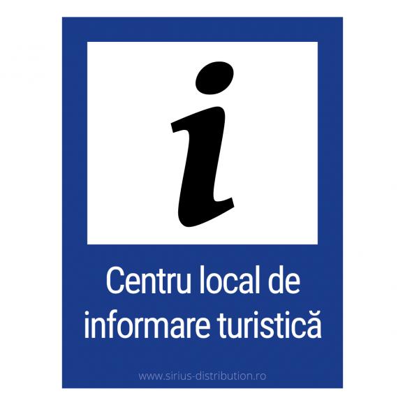 Indicator rutier de informare [ Punct de informare turistica ], forma dreptunghiulara, reflectorizant