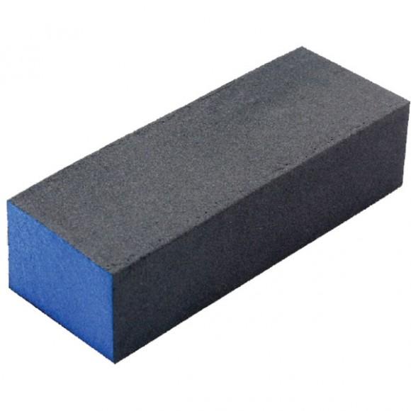 Buffer pentru pilit/lustruit unghii, bloc albastru/negru, 9.5cm