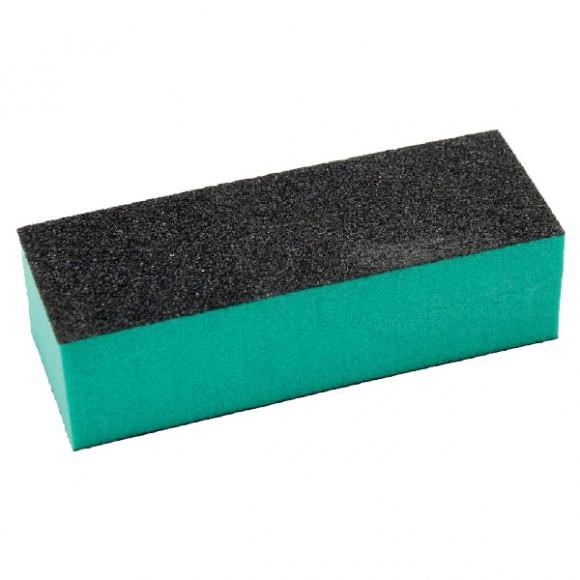 Buffer pentru pilit/lustruit unghii, bloc verde/negru, 9.5cm