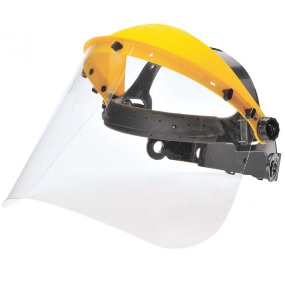 Masca protectie completa frunte, vizor transparent, policarbonat, sistem ajustabil, EN166 (1 buc.)