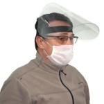 Viziera medicala, protectie totala fata, rabatabila, circumferinta ajustabila (1 bucata)