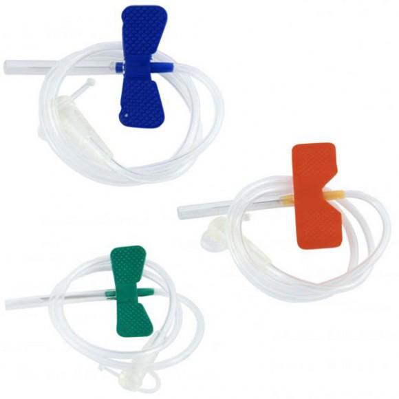 Microperfuzoare sterile (fluturasi) cu ac 19G, 21G, 22G, 23G, 24G, 25G, 27G, CE (100 buc/cutie)