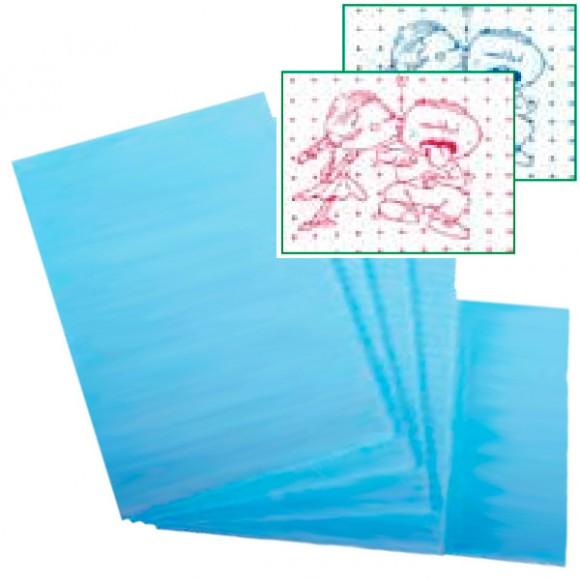Bavete - Campuri PE + hartie imprimate (baieti - albastru / fete - roz) 33x45cm (500 buc)