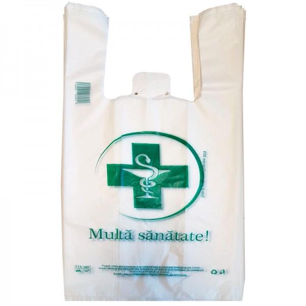 Pungi biodegradabile pentru farmacii (1000 buc.)