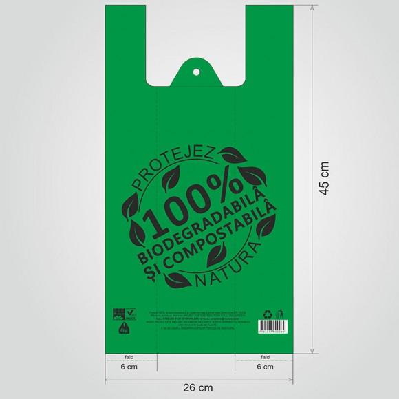 Pungi mici biodegradabile, 26x45cm, 4kg (1000 buc.)