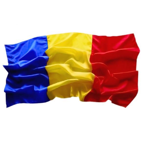 Drapel Romania, pentru interior, din satin 60cm x 90cm (1buc)