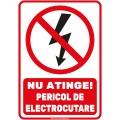 Indicator autocolant - PERICOL DE ELECTROCUTARE - PVC plastifiat - A4 - 210x297mm (1 buc.)