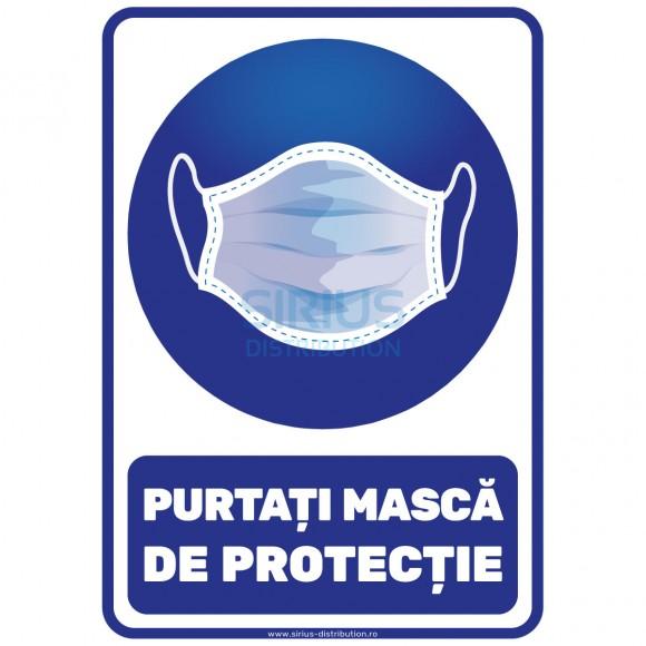 Indicator autocolant - PURTATI MASCA DE PROTECTIE - A5