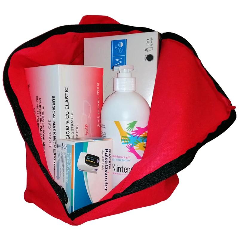 Kit (set) medical protectie anticovid cu pulsoximetru (1 set)