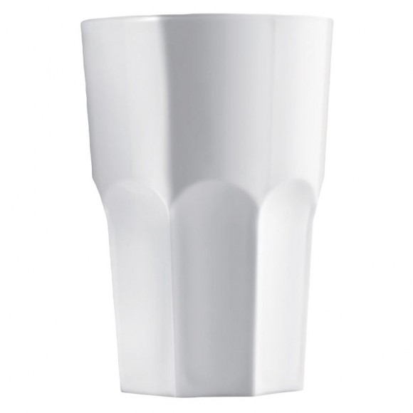 Pahar granity, incasabil, reutilizabil, acrilonitril stiren (SAN), 425ml alb (1 buc.)