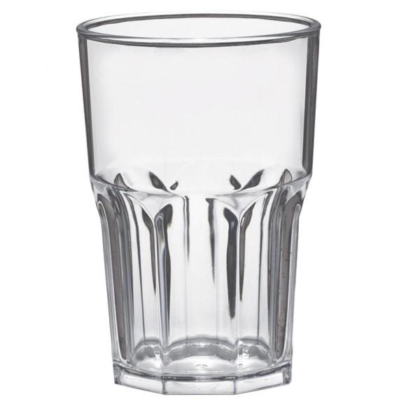 Pahar granity, incasabil, reutilizabil, acrilonitril stiren (SAN), 425ml transparent (1 buc.)