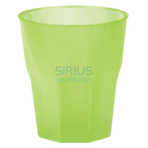 Pahar cocktail incasabil, reutilizabil, polipropilena (PP), 310ml verde (1 buc.)